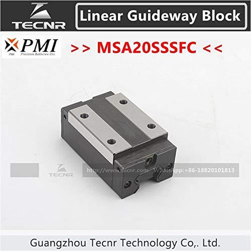 (Ochoos Taiwan PMI Linear guideway Slide Carriage Block MSA20S MSA20SSSFC Slider for CO2 Laser Machine )