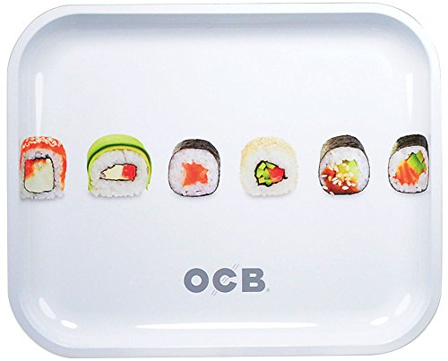 OCB Metal Rolling Tray - Sushi (Large) by OCB