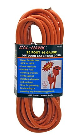 Cal Hawk Tools CEC1625 Outdoor Extension Cord