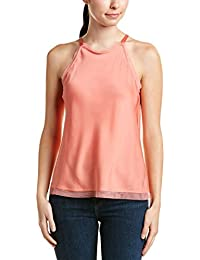 Womens Anika Silk-Blend Top, M, Pink