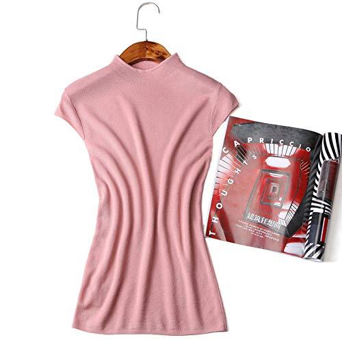 Nighout Fondo Delgada Mujer Temperamento Suéter De Punto Rosa Sección Camisa Estambre Damas 7wqr7Z4