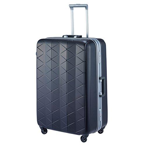 [サンコー] SUPERLIGHTS MGC スーツケース スーパーライト 軽量 大型 抗菌ハンドル マグネシウムフレーム 容量93L 縦サイズ74cm 重量4.2kg MGC1-69 B072KS767Z エンボスブラック エンボスブラック