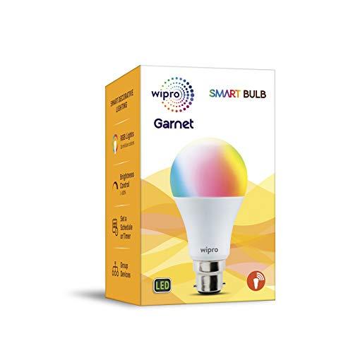 wipro NS9200 B22 Wi-Fi Enabled Smart LED Bulb for Amazon Alexa & Google Assistant (9W, White)