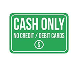 Amazoncom cash only no credit debit cards print green for Credit cards for new businesses with no credit