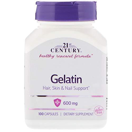 21st Century, Gelatin, 600 mg, 100 Capsules ()