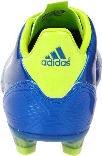 Adidas Hommes F30 Trx Fg Football Taquet Anodisé Bleu / Blanc / Slime