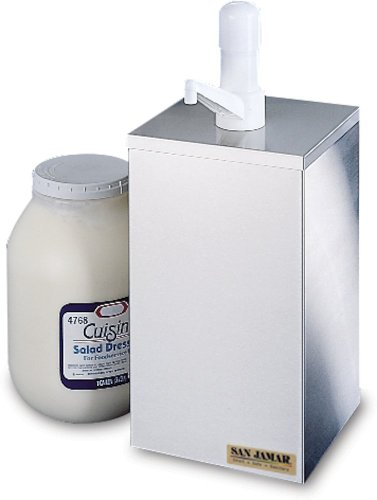 San Jamar P9800 1 Gallon Condiment Pump Box Dispenser by San Jamar