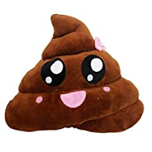 Susenstone Amusing Emoji Emoticon Cushion Heart Eyes Poo Shape Pillow Doll Toy Throw Gift