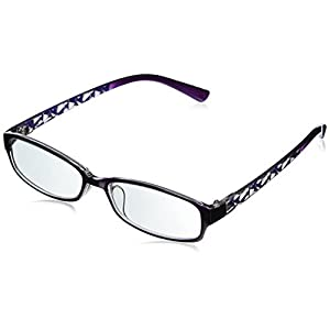 EyeBuyExpress Rectangle Violet Reading Glasses Magnification Strength 1