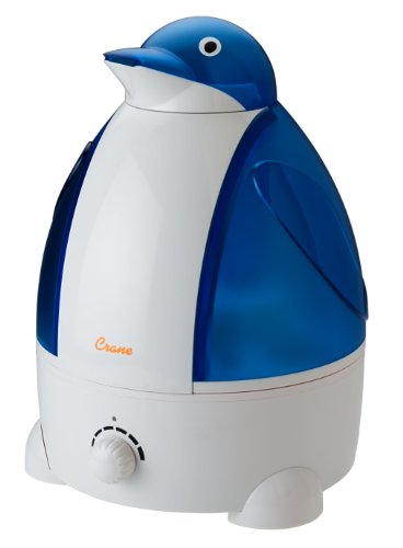 Adorable grue 1 Humidificateur brume fraîche, Bleu / Blanc