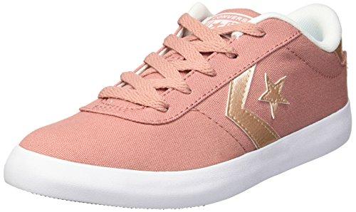 Converse Girls Point Star Sneaker, Pink/Milk, 3 M US Little Kid ()