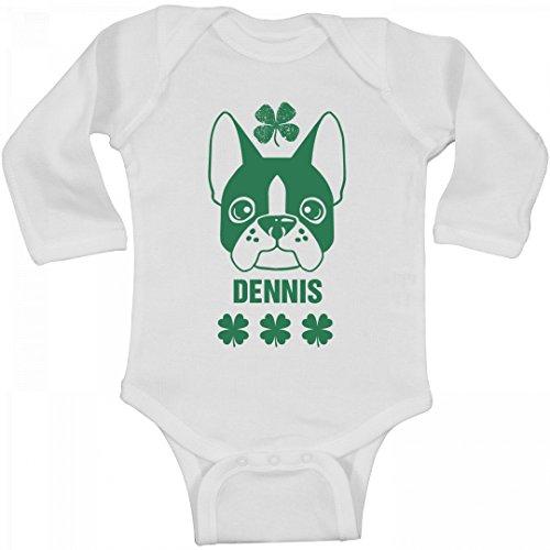 FUNNYSHIRTS.ORG Cute Irish Dennis With Dog: Infant Long Sleeve (Dennis Dog)