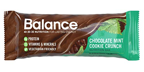 Bar Chocolate Meal Cookie - Balance Bar, Healthy Protein Snacks, Chocolate Mint Cookie Crunch, 1.76 oz, 6 Count