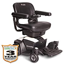 Pride Go-Chair Travel Power Wheelchair w/Avail ext warr incl Batteries (Pearl White)
