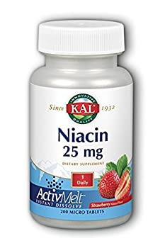 Niacin ActivMelt (25 mg Strawberry) Kal 200 Lozenge