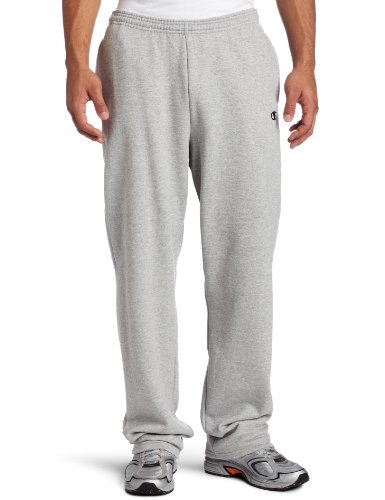 - Champion Men's Open Bottom Eco Fleece Sweatpant, Oxford Gray, Large