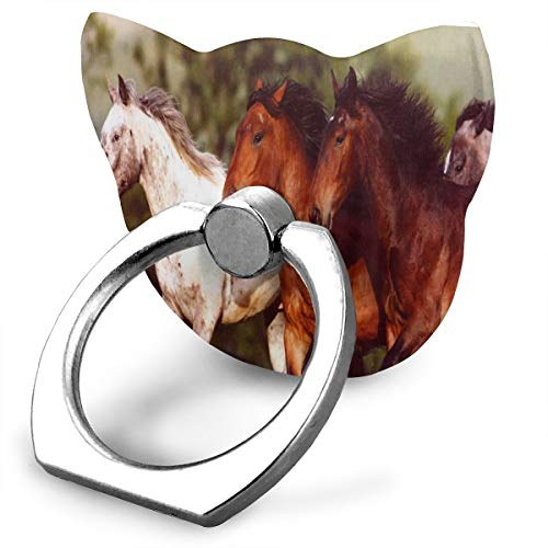 - Ring Stand Holder Cat Type Adjustable 360° Rotation Mustangs Wild Horses Phone Finger Holder Fit Phone X/6/6s/7/8/8 Plus/7, Galaxy, Android, Smartphone