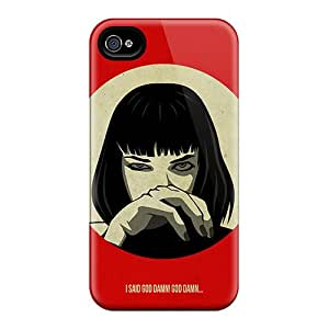 Shock-Absorbing Hard Phone Case For Iphone 4/4s With Support Your Personal Customized Stylish Pulp Fiction Image ErleneRobinson
