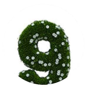 alfombrilla de ratón Número 9 Spring Meadow 3D - ronda - 20cm