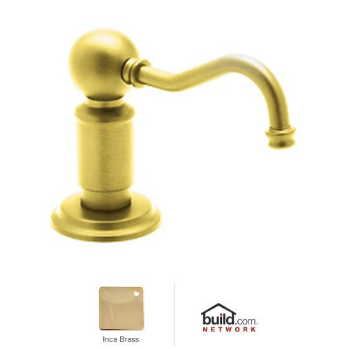 Rohl LS850P Perrin and Rowe Deck Mounted Soap Dispenser with One Touch System, Inca Brass