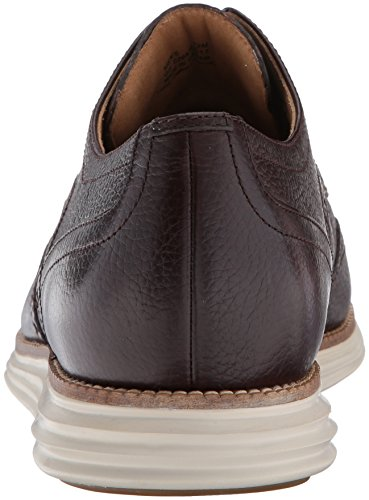 ... Cole Haan Menns Opprinnelige Grand Shortwing Oxford Java Skinn /  Elfenben ...