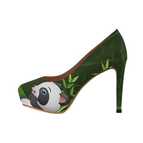 InterestPrint sugar Womens Sexy High Heels Pump Shoes Baby Panda in the Jungle Bamboo u0cUO