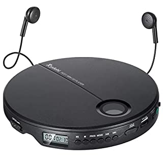 Portable CD Player, Rydohi Compact Anti-Skip Small Walkman CD Player, Shockproof & Lightweight Personal Music Disc Player with Earbuds for Kids & Adults - Home & Travel - Car