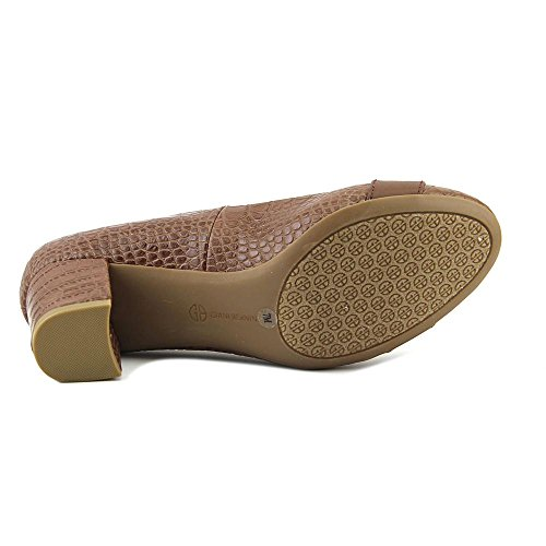 Giani Bernini Womens Jileese Vierkante Neusvoet Loafers Donker Tin
