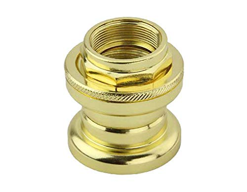 Lowrider Gold Threaded Steel Headset 21.1x32.5x27mm. Bike Part for Cruiser, BMX, Trike, Bicycle Parts