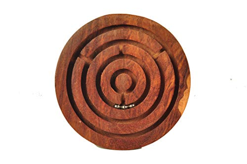 MIND POWER Games Wooden Circle Maze Puzzle for Improves Logical Reasoning & mind power Enhances Problem Solving Skills. 5 Pieces, 1.0