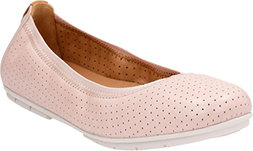 Clarks Women's Un Tract Ballet Flat,Nude Pink Cow Full Gr...