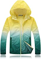 Bonboho Women's Lightweight Waterproof Hooded Outdoor Activewear Rain Jacket