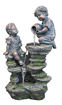 Kelkay Children Playing at The Falls Fountain