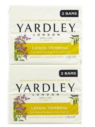 Yardley London Lemon Verbena with Shea Butter Two Bar Soap, 4.25 oz, 2 - Shea Verbena Refreshing Butter