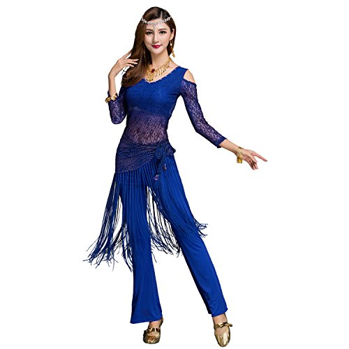 Segbeauty Belly Dance Hip Scarf, Women's Belly Dancing Hip Wrap Belt Tribal Sequins Fringe Tassel Costume Shawl Fringe Skirt Wrap Hip Shaker