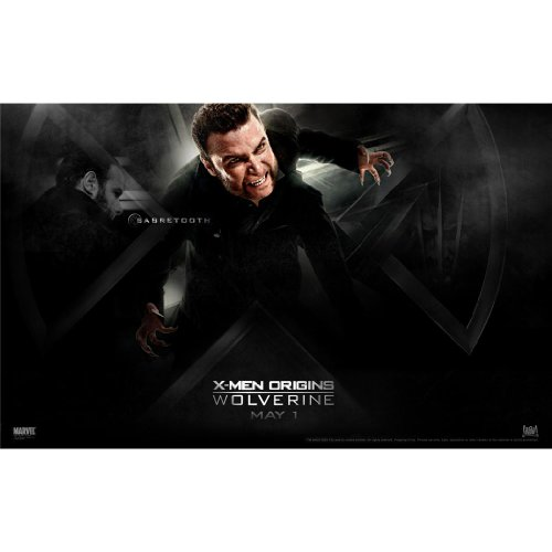 X-Men Origins Wolverine Poster by Silk Printing # Size about (56cm x 35cm, 22inch x 14inch) # Unique Gift # FBEED5