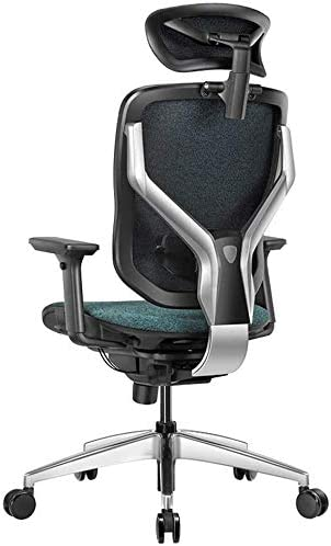 Zxl Mesh Office Chair Ergonomic Office Chair Mesh With High Back And Lumbar Support Desk Chair With Adjustable Headrest Neck Support And Arms C Amazon De Kuche Haushalt