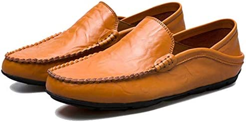 Sunny Holiday Hommes Mocassins Chaussures Plates Chaussures D/écontract/ées Chaussures Bateau Doux Cuir Chaussures de Conduite Chaussure Bateau EU 38-46