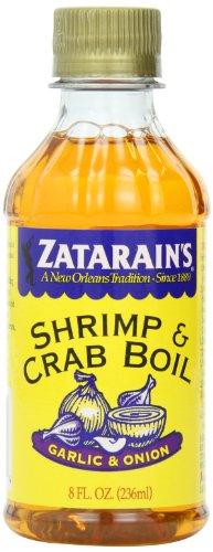 Crab Liquid Boil (ZATARAIN'S Crab and Shrimp Boil Liquid, Garlic and Onion, 8-Ounce (Pack of 6))