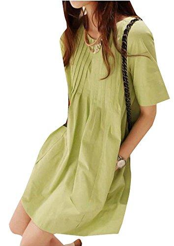 Women's Cotton And Linen Linen Doll Shirt Size M White