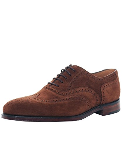 (Loake Men's Suede Buckingham Polo Brogues UK 9.5 Brown)