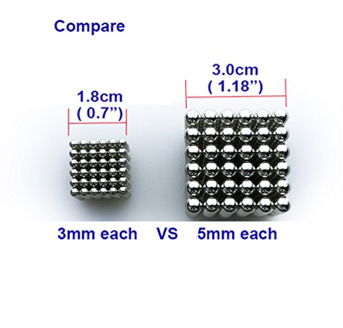 Magnetic Steel Ball, Sunmy Bearing Balls Educational Fidget Toys for Children, Office Decompression Toys Pack of 216, Each 3mm