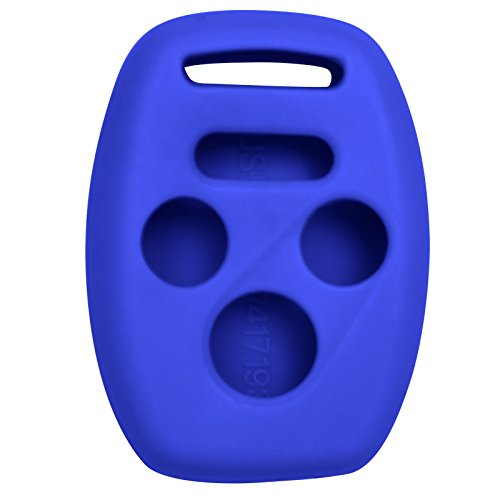 Keyless2Go Silicone Cover Protective Case for 4 Button Remote Keys KR55WK49308 MLBHLIK-1T OUCG8D-380H-A (1 Pack) - Blue (2009 Acura Tsx For Sale By Owner)