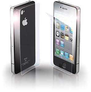 Cellular Line - Protector de pantalla antirreflejos con efecto espejo para iPhone 4 (anverso y reverso)