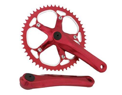 - Alloy Chainwheel Set 52T x 175mm Red.