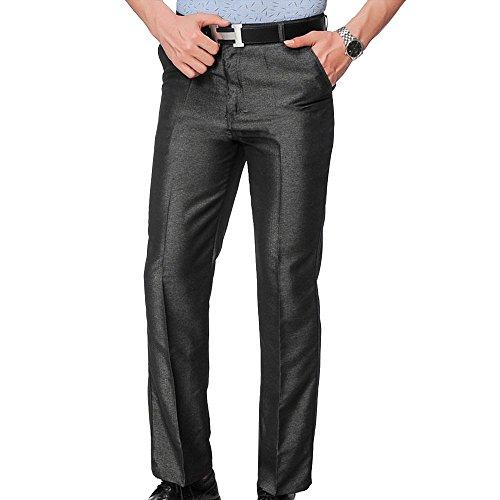 LINGMIN Men's Classic-Fit Crosshatch Pant Work Wrinkle-Resistant Flat Front Dress Pants ()