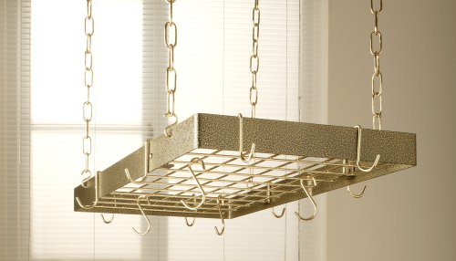 Rogar Hammered Bronze & Brass Rectangle with Grid