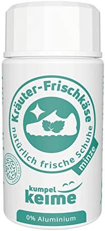 Kräuter-Frischkäse Minze - das mikrobiologische Schuhpuder - Schuh-deo gegen Fuß-Geruch -