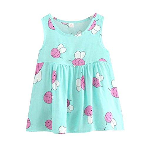 Koala Superstore [M] Kids' Pajama Home Nightdress Sleeveless Cotton Dress Vest Skirt for Girls by Koala Superstore