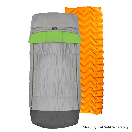Winterial Adult Size Sleeping Bag with Pad Sleeve Insert, Comfortable and Warm for Camping in The Cold, 32 Degree Temperature Rating
